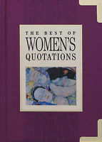 Best of Women's Quotations (In Quotations), , Very Good Book