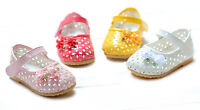New Baby Girls Shoes in White,Pink,Dark Pink,Yellow 3 6 9 12 18 Months