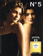 PUBLICITE ADVERTISING 014   2011   CHANEL  parfum n°5 AUDREY TAUTOU