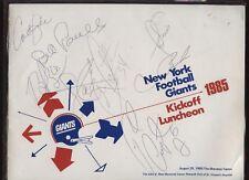 1985 NFL New York Giants Luncheon Program 8 Sigs JSA