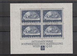 Österreich WIPA Block, gestempelt, 127 x 102