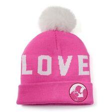 "DISNEY PRINCESS Sleeping Beaty Aurora Beanie Hat Cap w/ Pom ""Love"" Womens Girls"