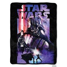 PLUSH SOFT Star Wars Darth Vader Dark Knight super soft throw blanket NEW