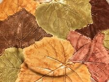 """Vietri 13"""" Platter NWOT Thanksgiving Embossed Fall Autumn Leaf Colorful 8358/32"""