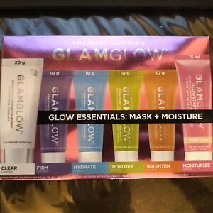 GLAMGLOW ESSENTIALS: MAST & MOISTURE 6 IN 1 PRODUCTS SET NEW IN BOX