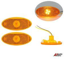 2X Led Amber Marker Side Lights For Renault Master Mk3 Vauxhall Movano Mk2 2010+