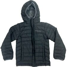 Columbia Puffer Lightweight Jacket Coat Hooded Youth XS 6/7 Black
