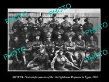 OLD POSTCARD SIZE PHOTO OF WWI AUSTRALIAN ANZAC SOLDIERS 5th LIGHT HORSE c1918