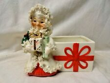 Vintage Christmas Shopper Angel Planter Candy Holder From the 50's