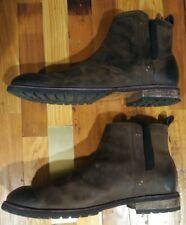 Mark Nason Men's Premium Brown Leather Ankle Boots Size 11