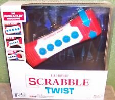 Hasbro Electronic Scrabble Crossword Pass & Play Word Game Twist Game New
