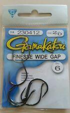 Gamakatsu 230412 Size 2/0 Finesse Wide Gap  Fishing Hooks Qty. 6
