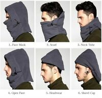 6 in1 Winter Warm Fleece Thermal Neck Balaclava scarf Wind Stopper Face Mask EN