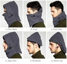 Thermal Fleece Ski Face Mask Balaclava Hood Neck Warmer Snow Wind Stopper CY