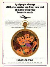 1967 D 'Origine Publicité' Vintage Olympic Airways Airlines Musique
