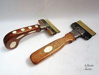 équitation - deux peigne à crinière unique pour chevaux - outils anciens