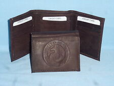 United States Marine Corps  USMC   Leather TriFold Wallet    NEW    dkbr 3  m1