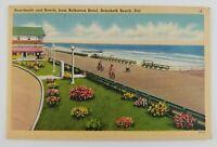 Postcard Boardwalk Beach Bicycle Belhaven Hotel Rehoboth Beach Delaware