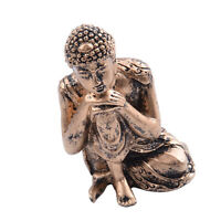 Resin Seated Sakyamuni Buddha Miniature Meditation Statue Figurine -Copper