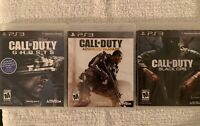 Call of Duty Black OPS Ghosts Advanced Warfare PS3 Bundle PlayStation Lot Of 3