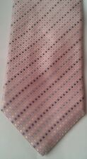 Cedarwood state pink silk tie with blue and white squares