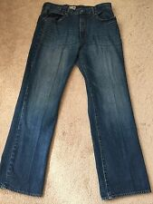 Gap Men's Jeans Dark Wash Denim Vintage Wash Straight Leg Sz 36 X 34