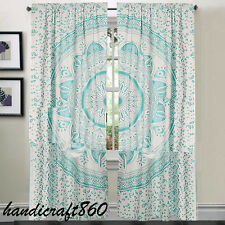Indian Mandala Hippie Tulle Cotton Door Window Curtain Drape New Valances