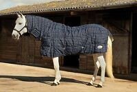 RHINEGOLD DAKOTA horse / pony HEAVYWEIGHT STABLE RUG 300G with FIXED NECK  COMBO