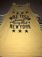 ROOTS OF FIGHT BOXING IRON MIKE TYSON YELLOW TANK TOP SHIRT XXXL 3XL