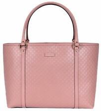 NEW Gucci 449647 Soft Pink Leather Micro GG Guccissima Joy Purse Handbag Tote