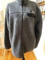 Women's Columbia Mountainside Heavyweight Fleece Jacket Sz M Gray Black Full Zip