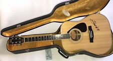 Yamaha FG-201 Acoustic Guitar Made In Japan w/ Hard Case • Brian McKnight SIGNED