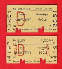 Railway Tickets ~ BR(S) 2nd Cheap Day: Hamworthy to Poole - Adult & Half - 1978