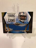 2014 Leaf Certified Fabric Of The Game Brandon Pettigrew 3 Color Patch /49 Lions