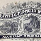 Antique Civil War Enlistment 6 Indiana Cavalry Regiment Certificate Indianapolis