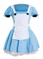 Alice in Wonderland Sexy Ladies Fancy Dress Costume 6 8 10 12 14 16 Fairytale