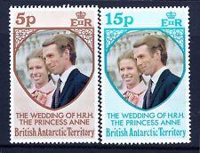 BAT BRITISH ANTARCTIC TERRITORY 1973 ROYAL WEDDING. UM
