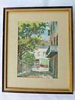 "Original New Orleans framed watercolor painting by ""Jazz"" artist  Ann De Lorge"