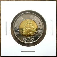 Canada 2012 War of 1812 HMS Shannon Toonie BU From Mint Roll!!