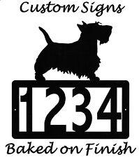 Scottish Terrier Address Metal Sign Custom