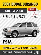 2004 dodge durango service manual ebay rh ebay ca 2004 dodge durango repair manual pdf 2004 dodge durango factory service manual