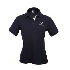 HYGAIN Womens Ladies Polo T Shirt Short Sleeve Horse Riding Navy