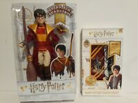 2019 HARRY POTTER Quidditch Poseable Doll, Broomstick & Snitch neck tie,glasses