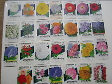 Lot of 27 Old Vintage 1940's - 1960's - FLOWER  - SEED PACKETS - EMPTY
