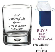 Personalised Engraved Bacardi Rum and & Coke Glass Bubble Tumbler Birthday Gift