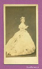 CDV CHRISTINE NILSSON, CHANTEUSE d'OPÉRA SUÉDOISE EN ROBE DE SCÈNE, 1870 -L8