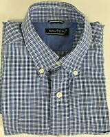 Nautica long sleeve men`s shirt size M chest 44 in length 28 in, sleeve 33 in.