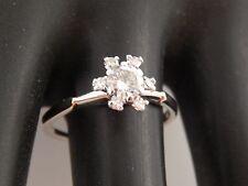 .48 tcw Beautiful Diamond Flower Ring Art Deco Ring 14k White Gold G/SI Estate