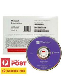 Microsoft Windows 10 Pro DVD+Key Full Version 1 PC Sealed Physical Product