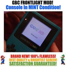 Nintendo Game Boy Color GBC Frontlight Front Light Frontlit Mod Teal MINT NEW